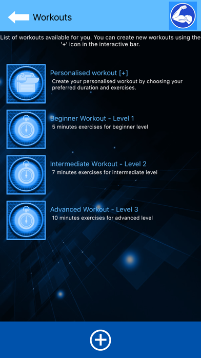 Arm Workout at Home with music screenshot 3