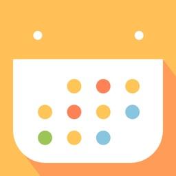 ハッピースケジュール シンプルでかわいい カレンダー By Funeasy Soft Inc