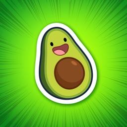 Michi Cado - Avocado Stickers