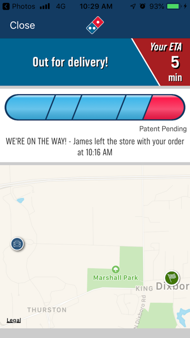 Domino's Delivery Experience screenshot 2