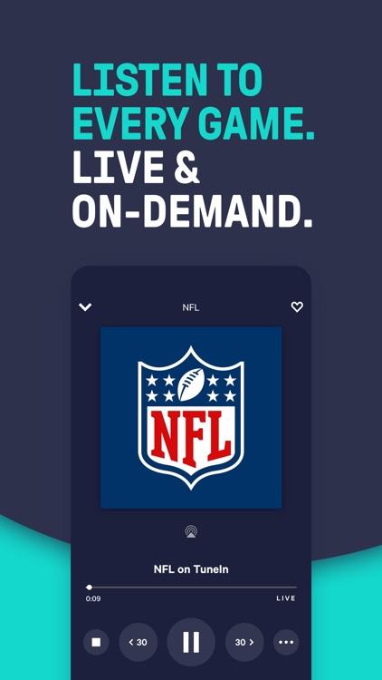 TuneIn - NFL Radio & Podcasts screenshot-0
