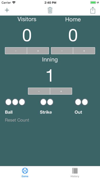Quick Baseball Scoreboard screenshot 3