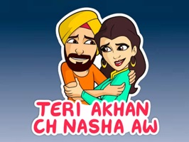 Now you can chat by Sharing & sending Punjabi stickers to all your contacts