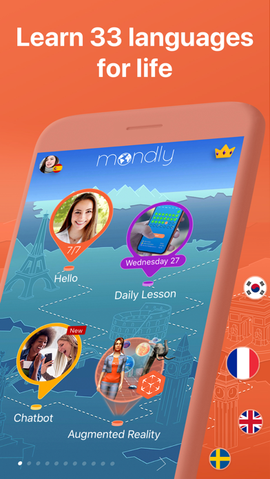 Screenshot for Mondly: Learn 33 Languages in Malaysia App Store