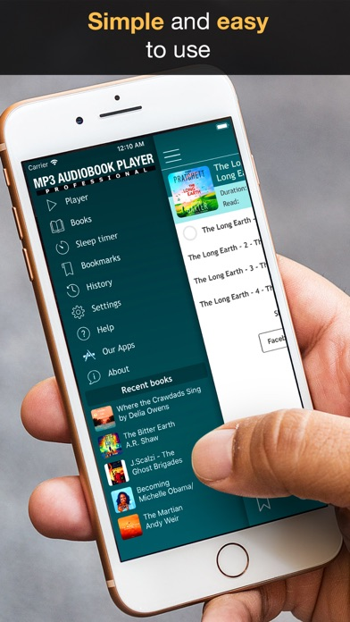 MP3 Audiobook Player - listening to audio books while walking or jogging! Screenshot 5
