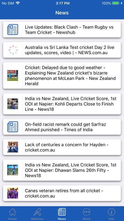 CrickOne - Live Cricket Scores screenshot-5