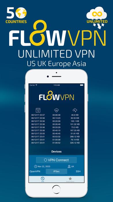 Flow VPN - Unlimited Fast VPNのおすすめ画像1