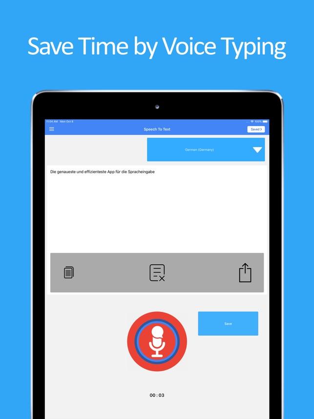 Speech To Text Speak Notes Im App Store