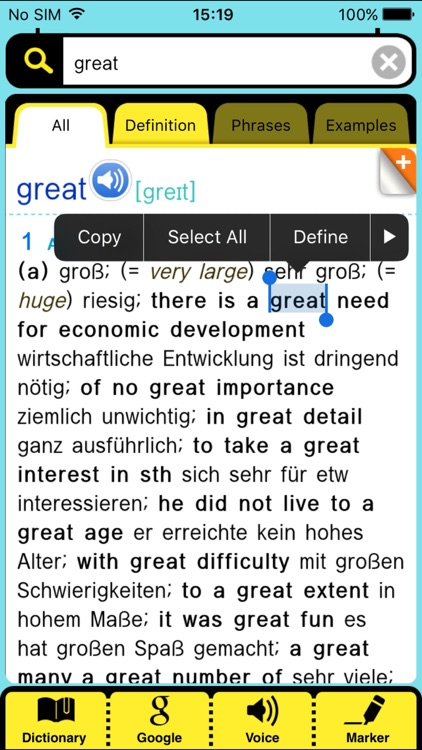 Collins Deluxe German English screenshot-3