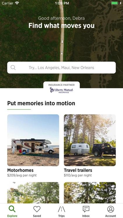 Outdoorsy - RV Rentals