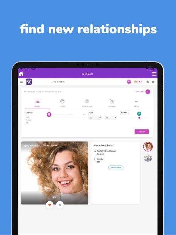 Facekandi - Chat, Meet & Date Screenshots