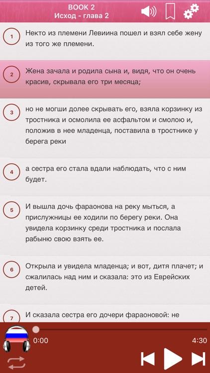 Russian Holy Bible Audio mp3 screenshot-3