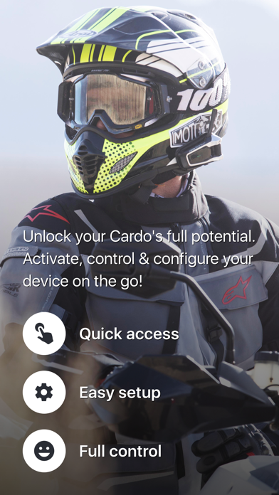 messages.download Cardo Connect software