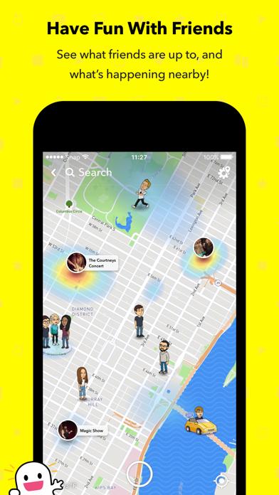 Screenshot of Snapchat App