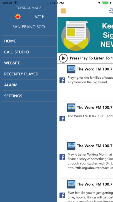The Word FM 100.7 screenshot two