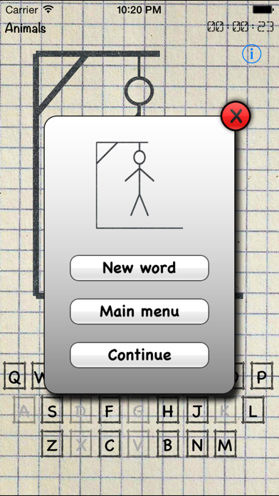 hangman - words game+ screenshot two