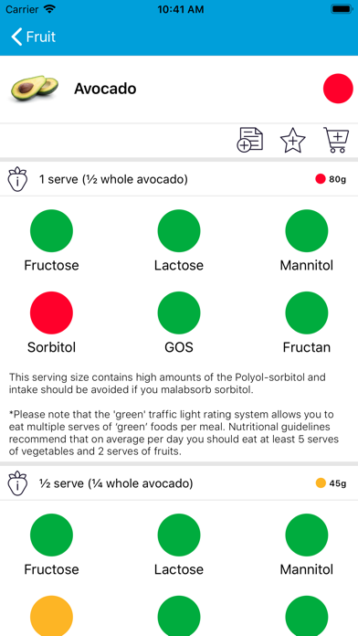 Monash University FODMAP diet Screenshots