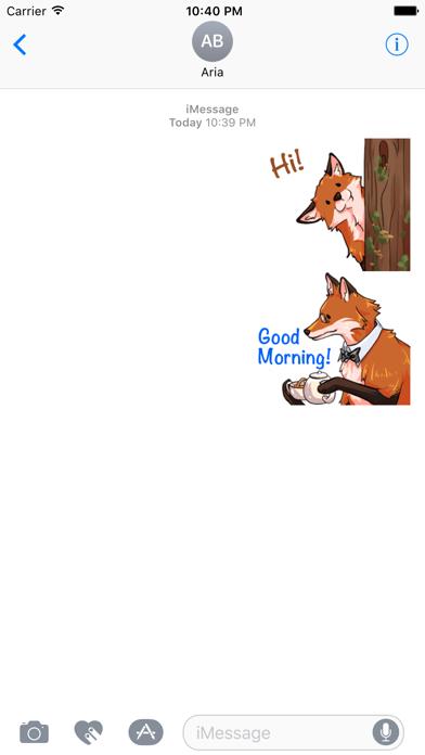 Red Fox FoxMoji Stickers Screenshot