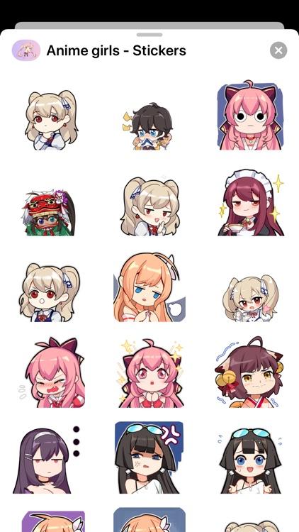 Animes girls - Stickers screenshot-3