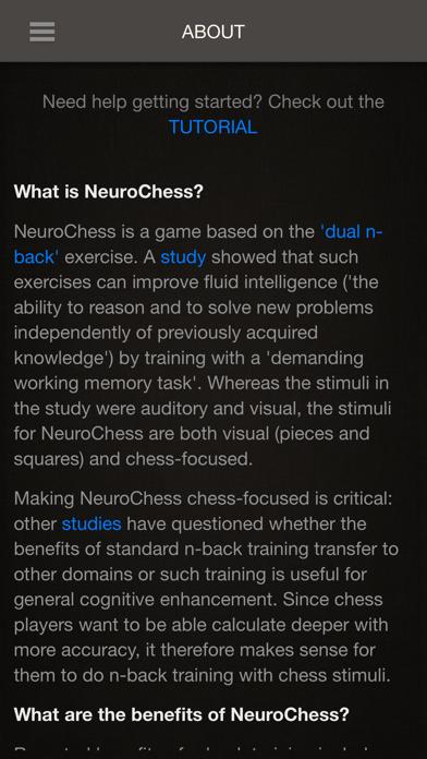 Screenshot of NeuroChess App