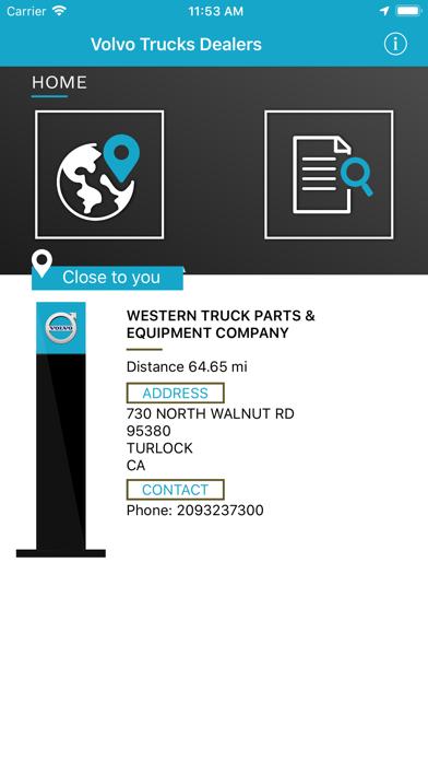 Volvo Trucks Dealer Locator screenshot one