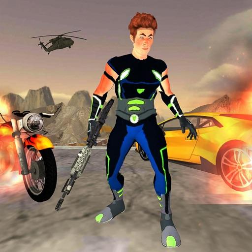 Iron Superhero Shooting Game