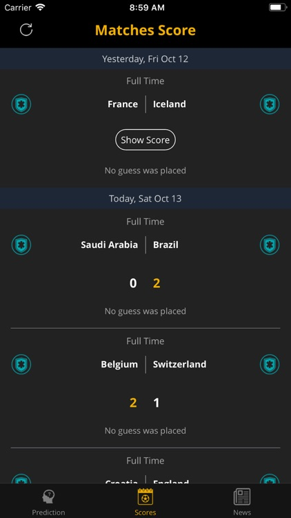 Predict Score - Soccer Matches by Khuong Hoang