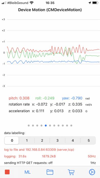 SensorLog Screenshots