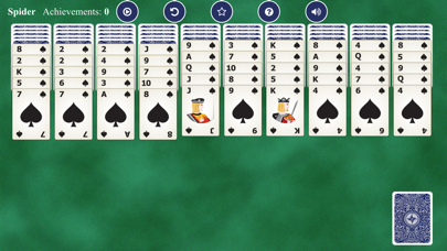 Spider Solitaires Card screenshot 1