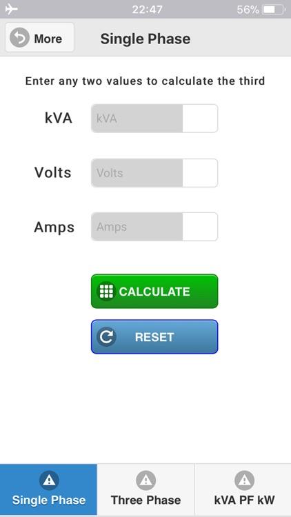 kVA Calculator screenshot-4