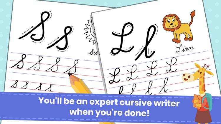 Abc Cursive Writing Practice screenshot-5