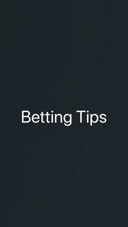 Betting Tips Sports Betting