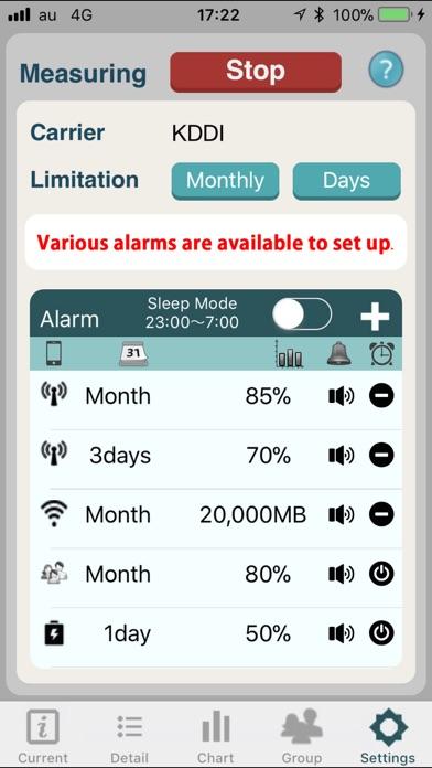 Battery and Data Alarmer screenshot