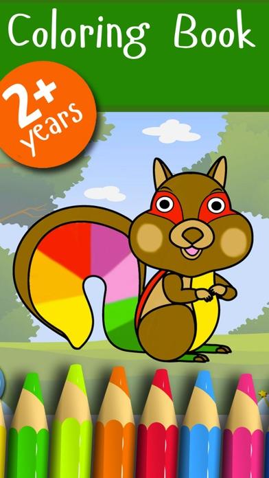 森 - ぬりえ動物 - 子供のためのゲームのおすすめ画像2