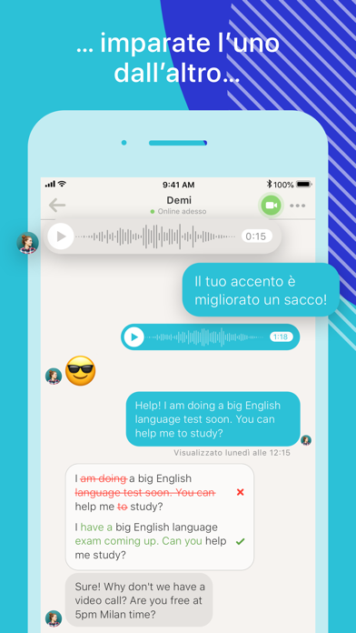 Screenshot for Tandem - Scambio di lingua in Italy App Store