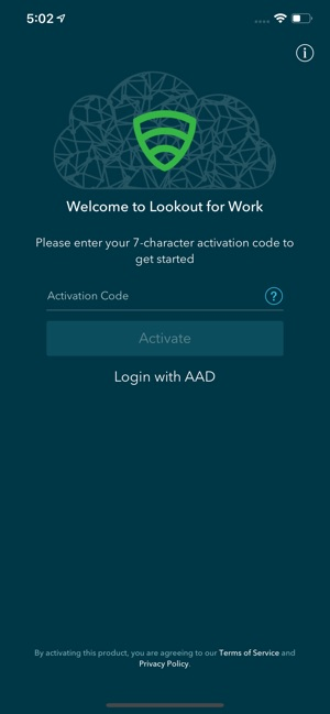Lookout for Work on the App Store