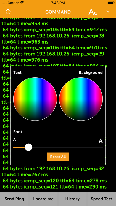 Cmd for iPhone - Ping & Speed Screenshots