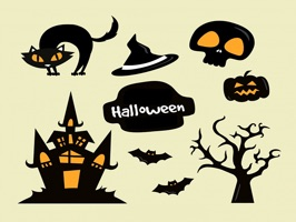 The HalloweenNTT is a small sticker, which are show the 50 Halloween NTT sticker in cartoon