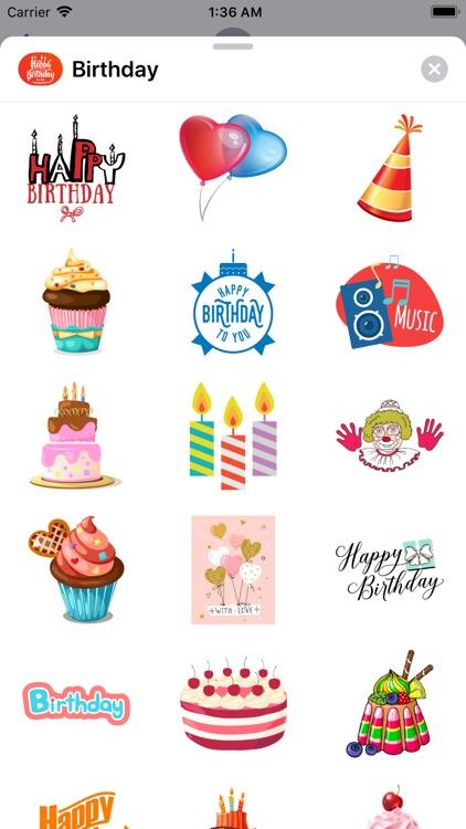 200+ Birthday MEGA Sticker App screenshot-4