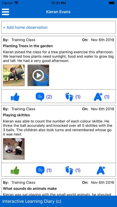ILD Parent Mobile screenshot one