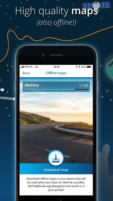 MyRoute-app Navigation Screenshot