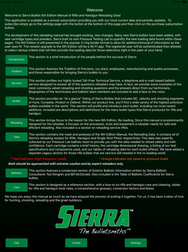 Sierra Reloading Manual v6 0 on the App Store