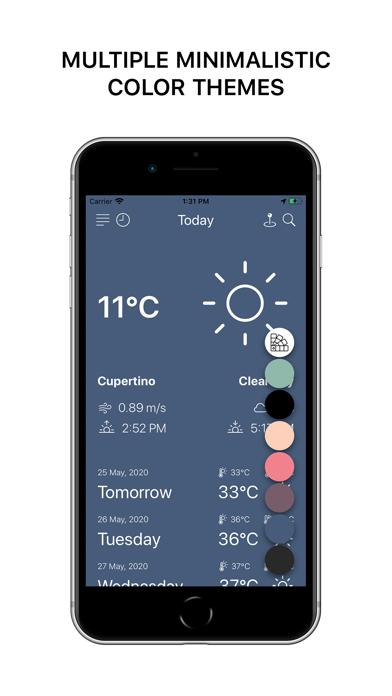 Minimalistic Weather Appのおすすめ画像5