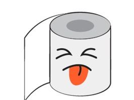 Awaken your iMessages for funny emotion with this exclusive Toilet Paper Feeling Sticker pack