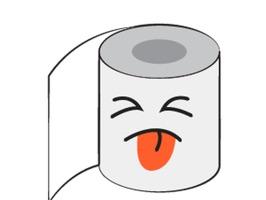 Toilet Paper Feeling Sticker