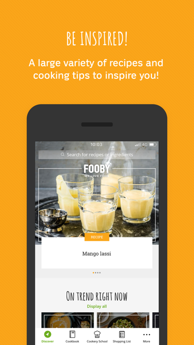 FOOBY: Recipes & More screenshot one