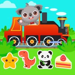 宝宝火车游戏-拼图游戏、涂色游戏、驾驶游戏