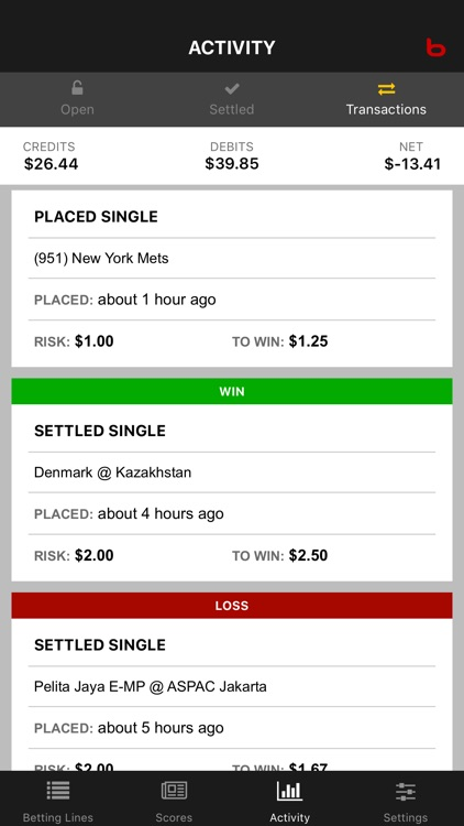 Bodog Bet Tracker screenshot-5