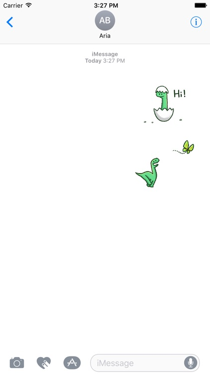 Animated Funny Tiny Dinosaur