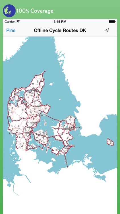 Offline Cycle Routes Germany